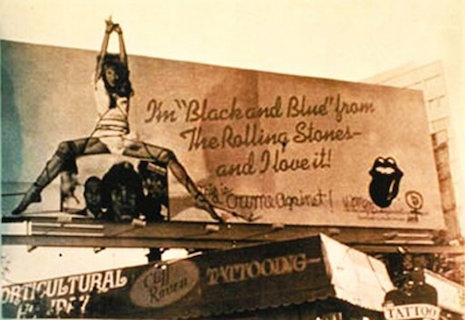 The billboard hanging above Sunset Strip, 1976
