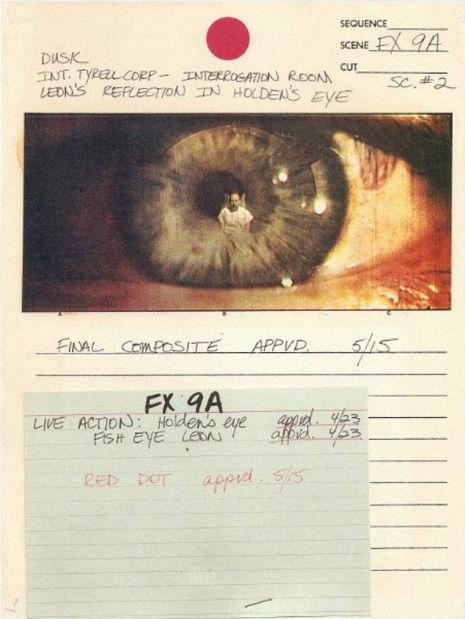 Original storyboards from 'Blade Runner'