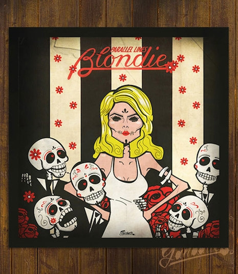 Blondie Parallel Lines Sugar Skull art by Ganbatte