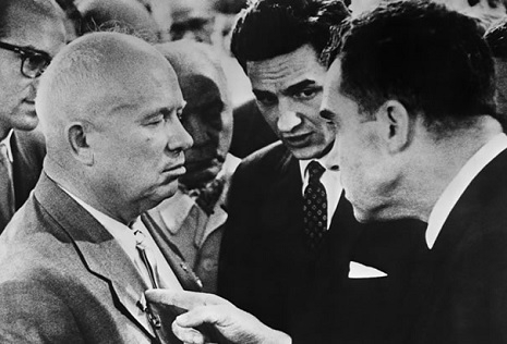 Nixon and Khrushchev