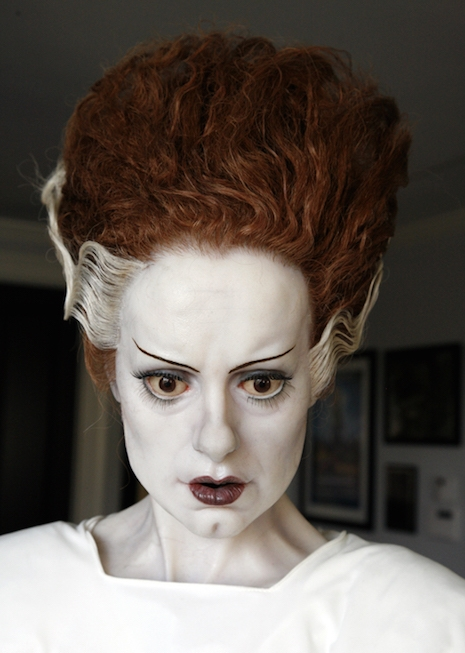 Life-sized sculpture of actress Elsa Lanchester as the Bride of Frankenstein from the 1935 film, Bride of Frankenstein
