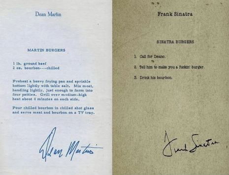 Dean Martin S Burger Recipe Vs Frank Sinatra S Burger Recipe Dangerous Minds
