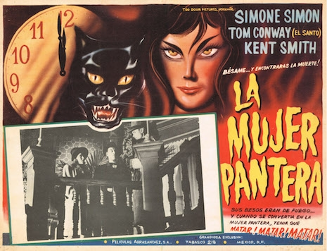 Mexican lobby card for Cat People, 1942