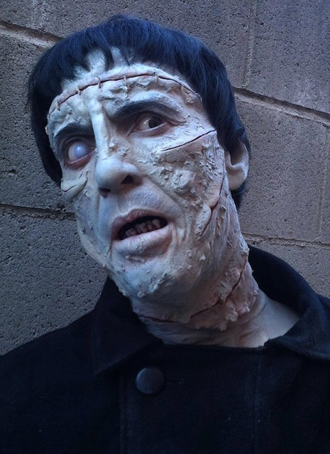 Life-sized sculpture of Christoper Lee from The Curse of Frankenstein (1957)
