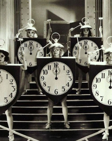 Dancing clocks from Madam Satan