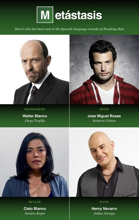 Breaking Bad cast Colombia