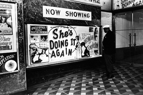 A theater marquee in the Combat Zone, 1967