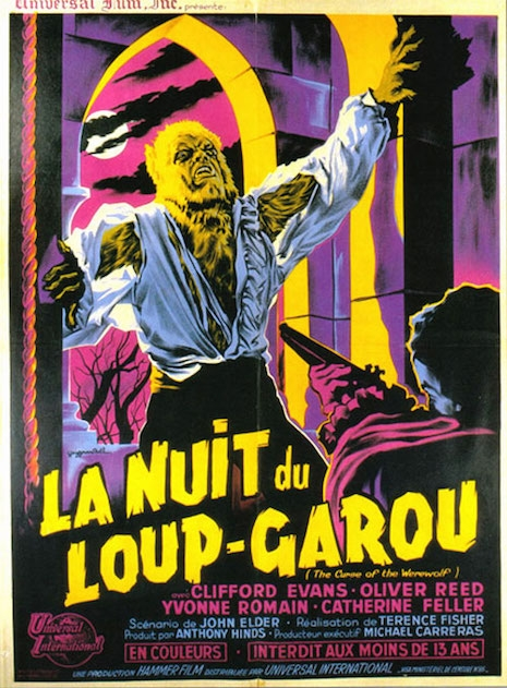 The Curse of the Werewolf movie poster (France)