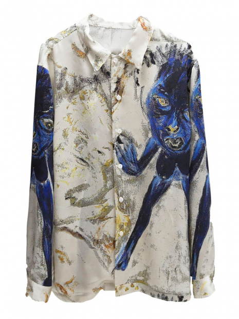 This hideous Captain Beefheart designer silk shirt can be yours for only $1285