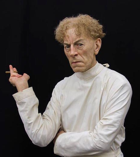 Life-sized sculpture of actor Ernest Thesiger as Dr. Septimus Pretorius from the 1935 film, Bride of Frankenstein