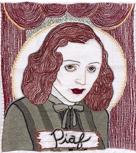 Edith Piaf embroidery