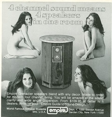 Empire Grenadier speaker ad, 1970s