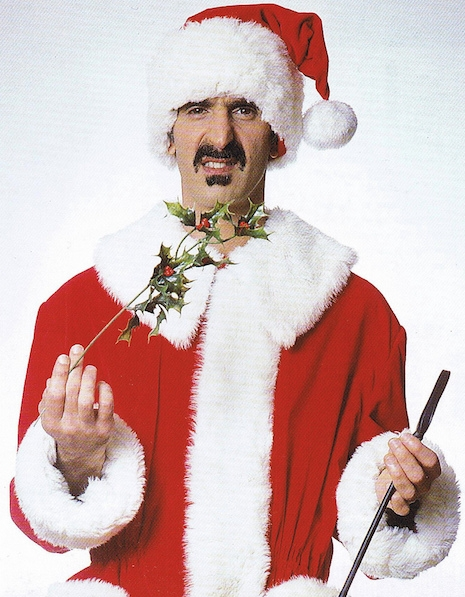 Frank Zappa in a Santa suit