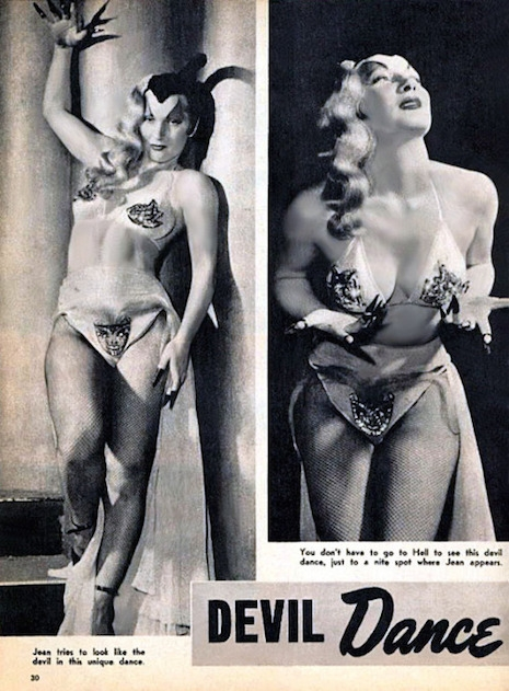 Burlesque performer Gene Gemay and her