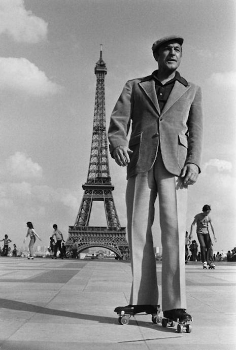 Gene Kelly in Paris shooting the 1974 film, That's Entertainment