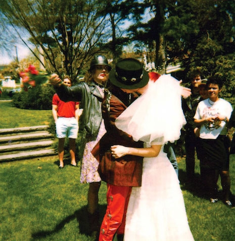 GG Allin in a dress and makeup at his brother Merle's wedding, 1989