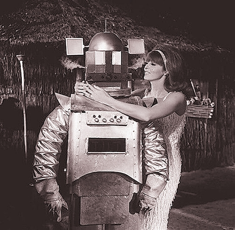 Ginger (played by Tina Louise on Gilligan's Island) and the robot that didn't rescue them