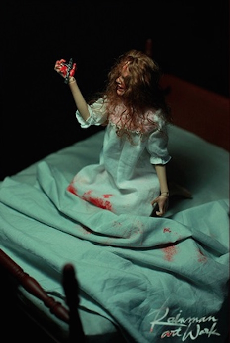 Girl of Satan (Regan from The Exorcist) on bloody bed by Rainman