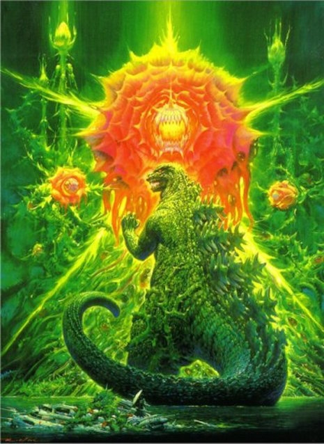 Godzilla vs. Biollante movie poster by Noriyoshi Ohrai, 1989