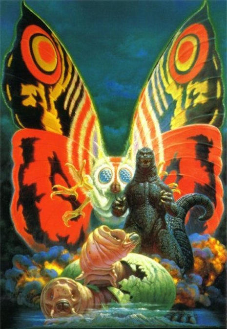 Godzilla vs. Mothra by Noriyoshi Ohrai, 1992