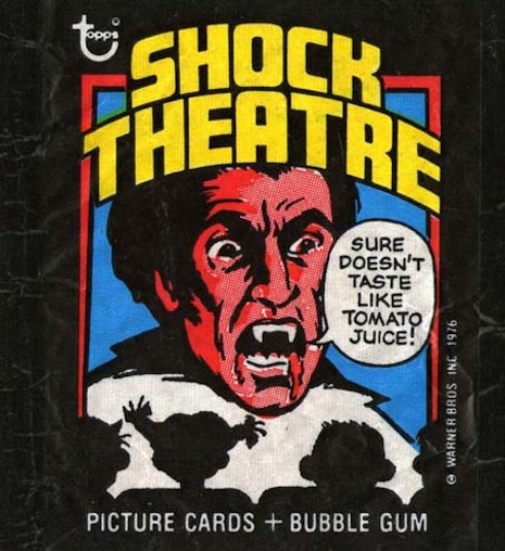 Topps Shock Theater trading card wrapper