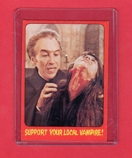 Hammer Shock Theater trading card #35 Dracula A.D. (UK version, 1976)