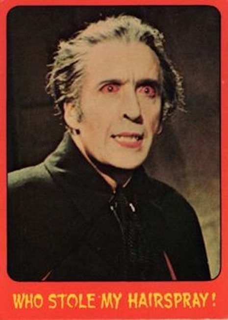 Topps Shock Theater card #30 Dracula AD (1976 UK version)