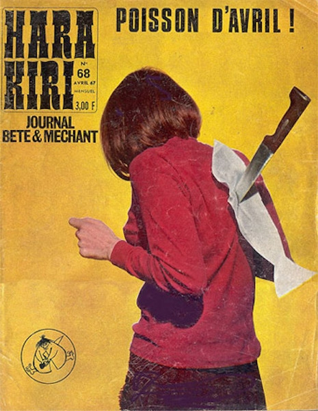 The cover of Hara Kiri #68