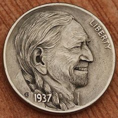 Willie Nelson hobo nickel