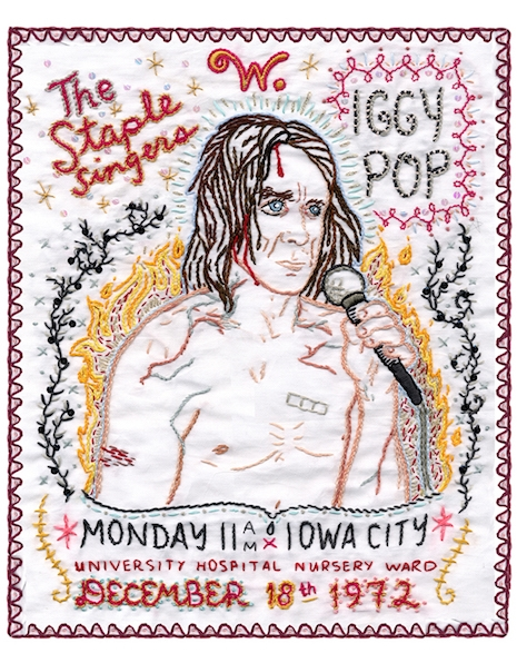 Iggy Pop embroidery