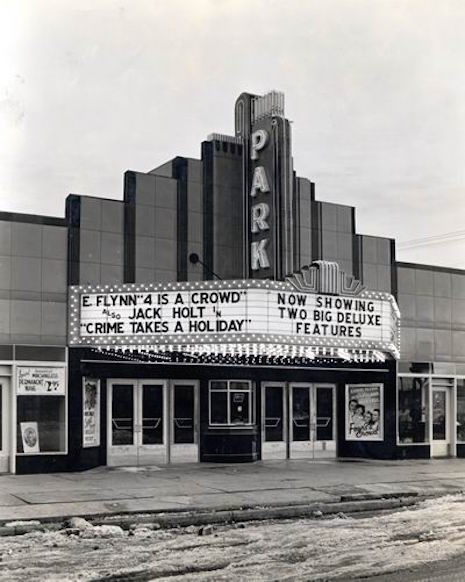 The Park Theater back in its heyday, sometime in the late 1930s
