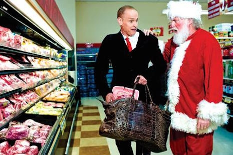 John Waters and Santa - from the 2004 book, A John Waters Christmas