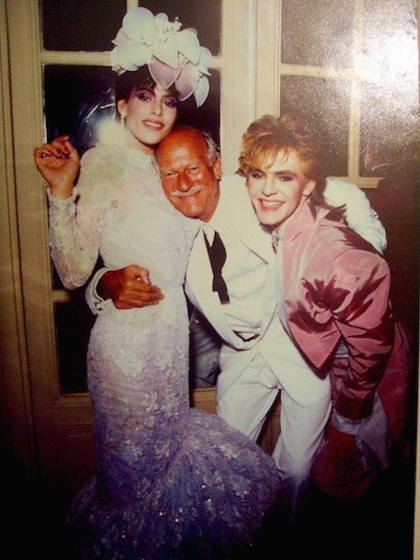 Nick Rhodes and Julie Anne Friedman at their wedding with fashion photographer, Norman Parkinson, August 18th 1984
