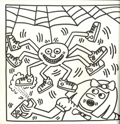 Best Buddies by Keith Haring coloring page | Free Printable ... | 477x465