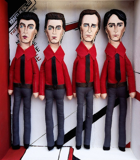 Kraftwerk plush dolls by Uriel Valentin