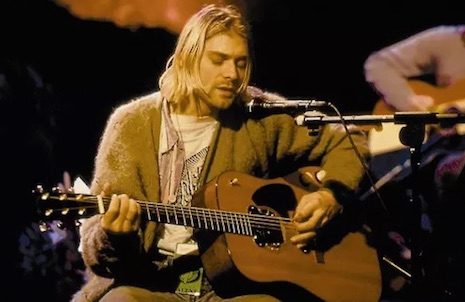 Kurt Cobain and Nirvana performing on