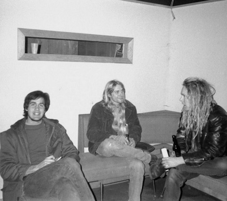 Krist and Kurt backstage at Man Ray in Cambridge, Massachusetts, April 18th, 1990