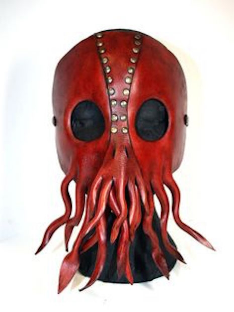 Red leather Cthulhu mask