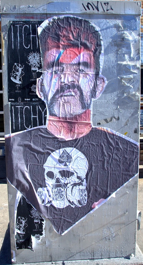 Lemmy/Bowie street art mashup in Denver, Colorado