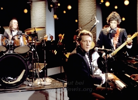 Keith Richards, Mick Fleetwood and Jerry Lee Lewis on Salute! 1983
