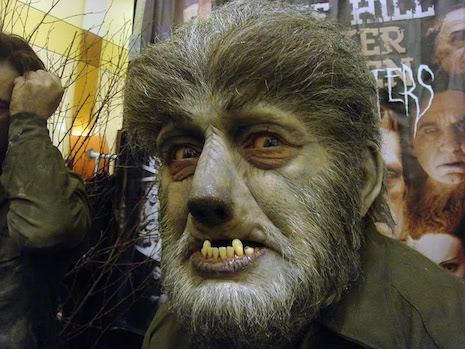 Life-sized sculpture of Lon Chaney Jr as The Wolf Man