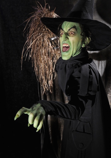 Life-sized sculpture of Margaret Hamilton as The Wicked Witch from the 1939 film, The Wizard of Oz
