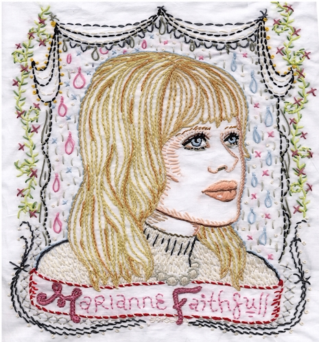 Marianne Faithful embroidery