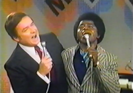 Mike Douglas and James Brown