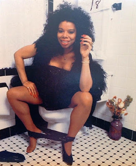 Millie Jackson (as pictured on the back cover of her 1989 album, Back to the S**t!)