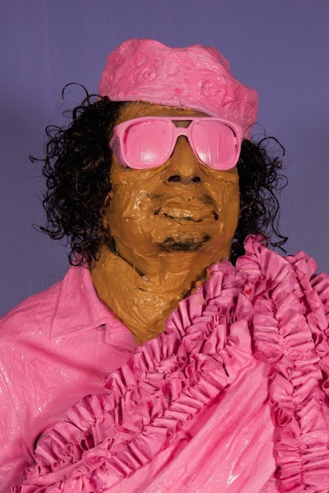Muammar Gaddafi living sculpture