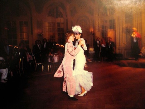 Nick Rhodes and Julie Anne Friedman at their wedding, August 18th, 1984