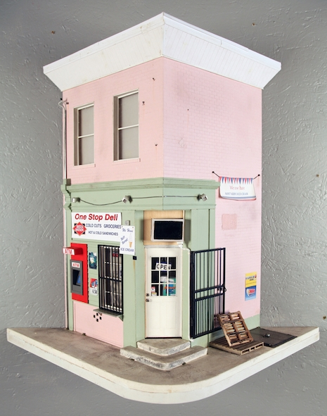 Miniature replica of the One Stop Deli in Philadelphia