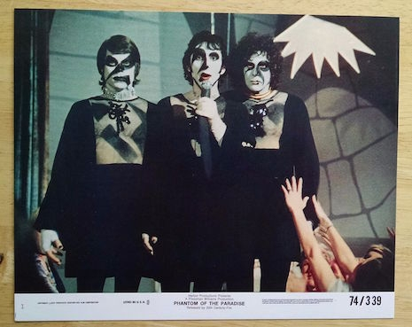 Lobby card for Phantom of the Paradise (starring Paul Williams), 1974