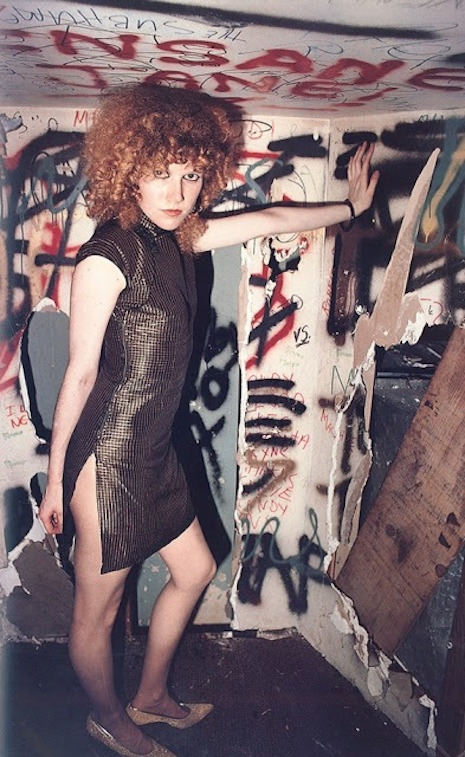 Poison Ivy of the Cramps in the dressing room of the Mabuhay Gardens, SF 1979 Jim Jocoy